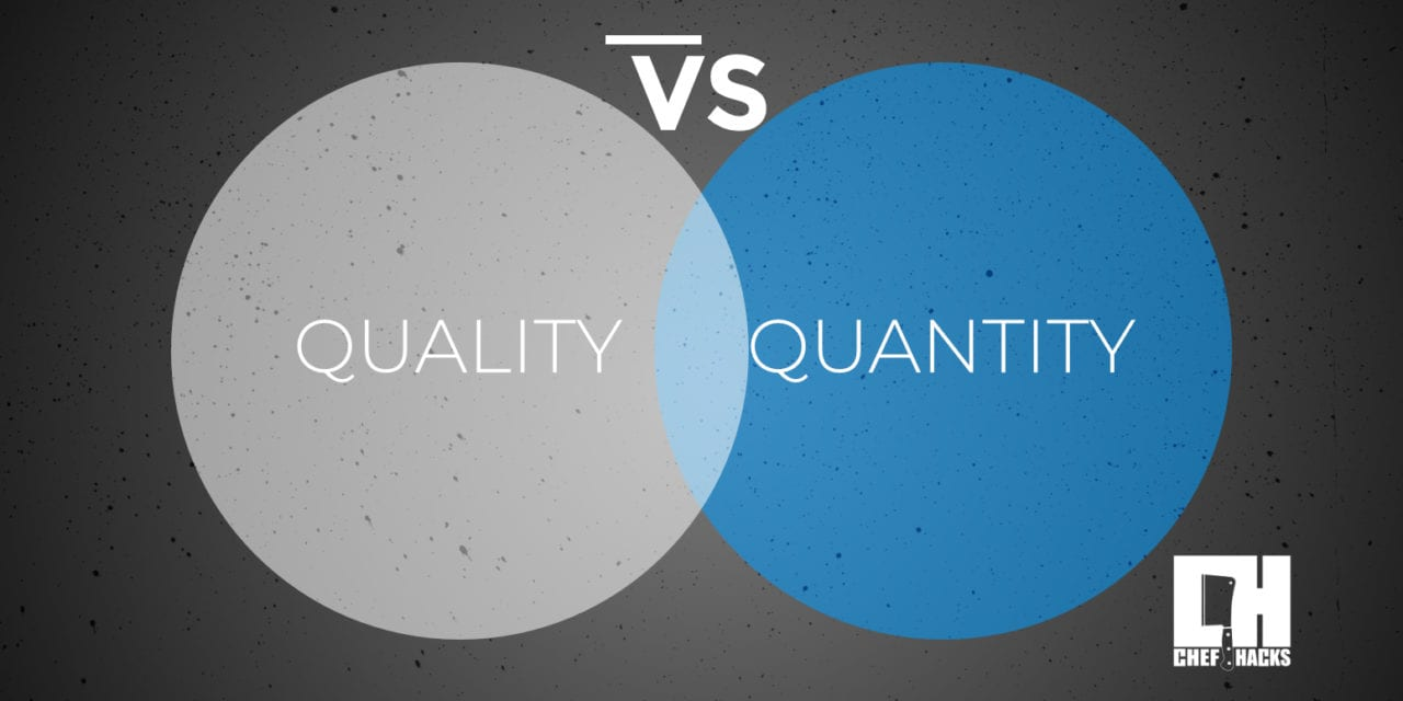 Food Quantity vs. Quality