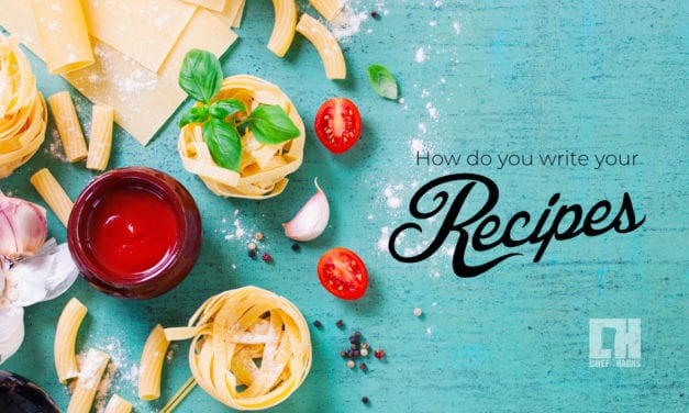 How do you write your recipes?