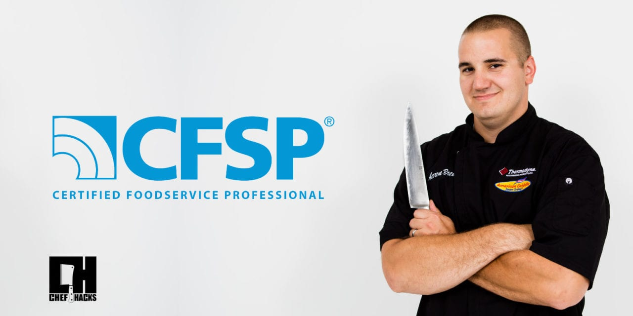 What is a Certified Food Service Professional?