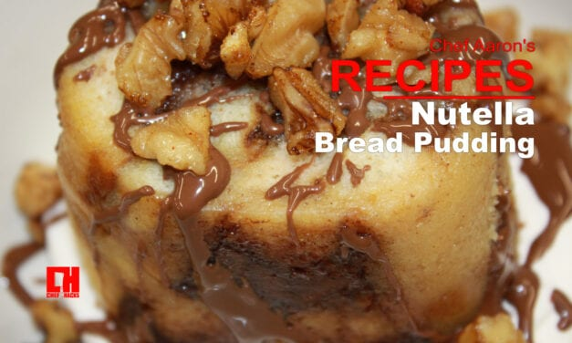 Recipe for Nutella Bread Pudding